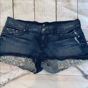 7 For All Mankind Jean Shorts 30 Floral